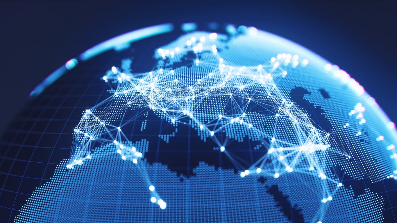 Global connections shown through a content delivery network